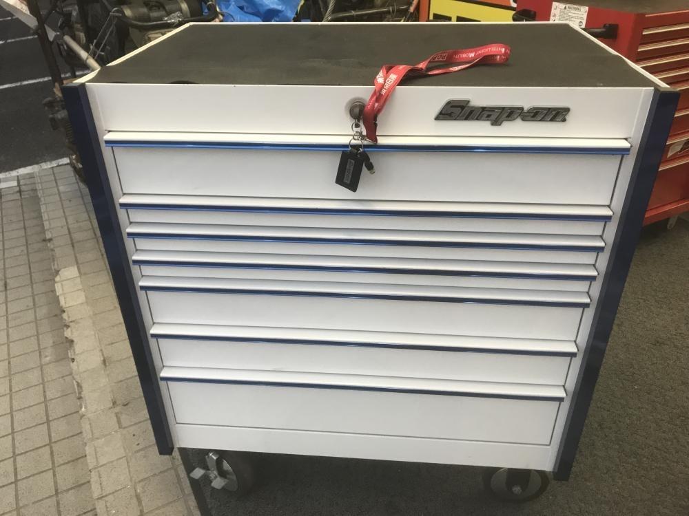 スナップオン 工具箱 ロールキャブ ロールキャビネット 白×青 KRL756CPMP 限定モデル