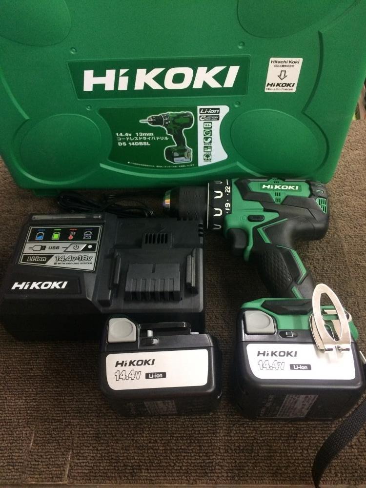 HIKOKI 充電式ドライバドリル DS14DBSL(2LSCK)