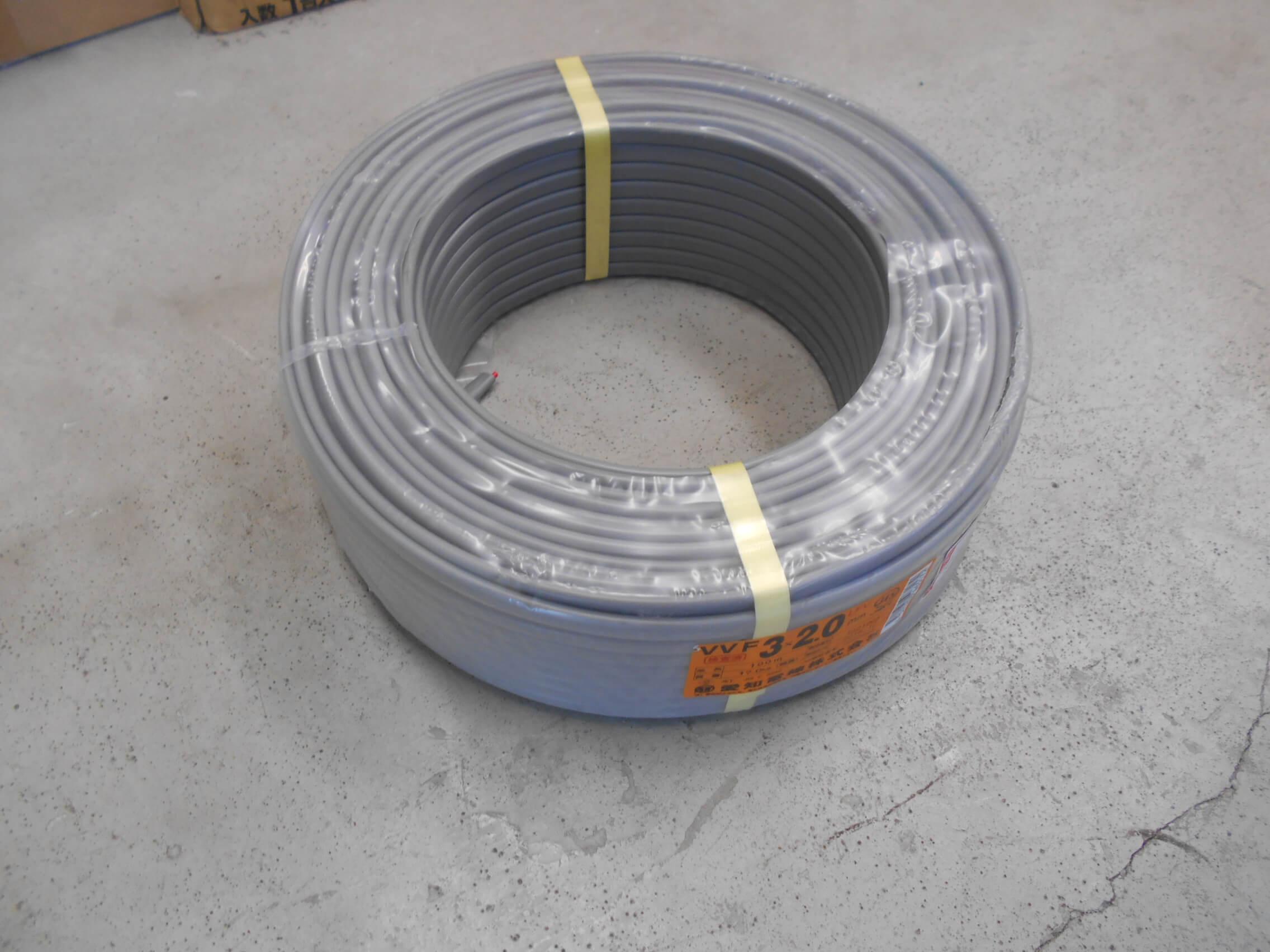 愛知電線 VVFケーブル 3×2.0