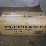 ELEPHANT チェーンレバーホイスト YAタイプ 0.8T YA-80