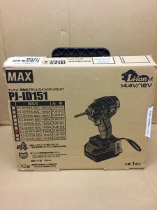 MAX 充電式ブラシレスインパクトドライバ PJ-ID151R-B2C/1440A