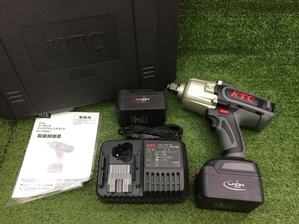 KTC 充電式インパクト コードレスインパクトレンチ JTAE681
