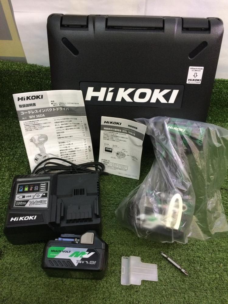 ハイコーキ HiKOKI 充電式インパクトドライバ WH36DA