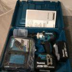 マキタ 充電式インパクトレンチ TW285DRGX 18V 6.0Ah バッテリ2個 18V 6.0Ah